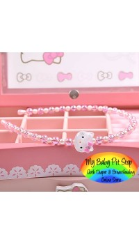 Korean Hello Kitty Pearls & Beads Headband