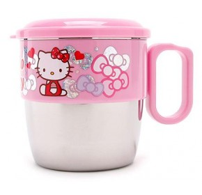 Hello Kitty Stainless Mug with Lid (100% authentic)