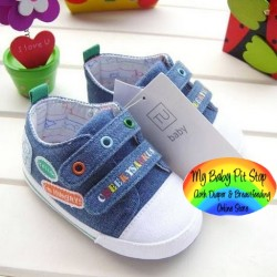 TU Baby Boyz Prewalker Shoes - Blue (6M, 9M)