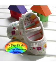 Mothercare Baby Girls Shoes - White Floral