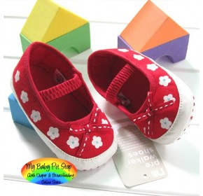Mothercare Baby Prewalker Shoes - Red Flower