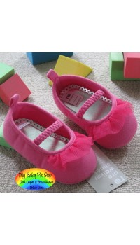 Mothercare Baby Girls Shoe - Pink Lacy