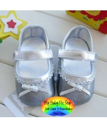 Mothercare Silver Pre-walker Shoes