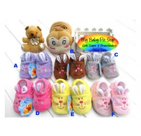 "Korean Baby ""Rabbit"" Soft Shoes"