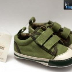 Adams Baby Boyz Shoes (Green Canvas) (0-3M, 3-6M & 12-18M)