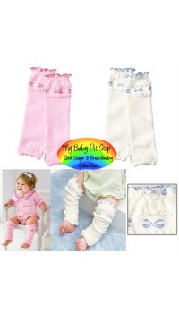 Leg and Arm Warmer - Caley Pretty Baby Bow