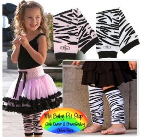 Leg and Arm Warmer - Annette Zebra Print