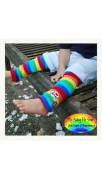 Leg and Arm Warmer - I Love Mommy Legging - Rainbow