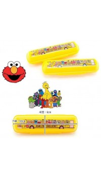 Sesame Street School Bus Cutlery Carrying Case (100% authentic)
