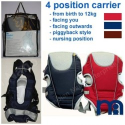 Mothercare 4 Position Baby Carrier (12KG) - Red/Navy